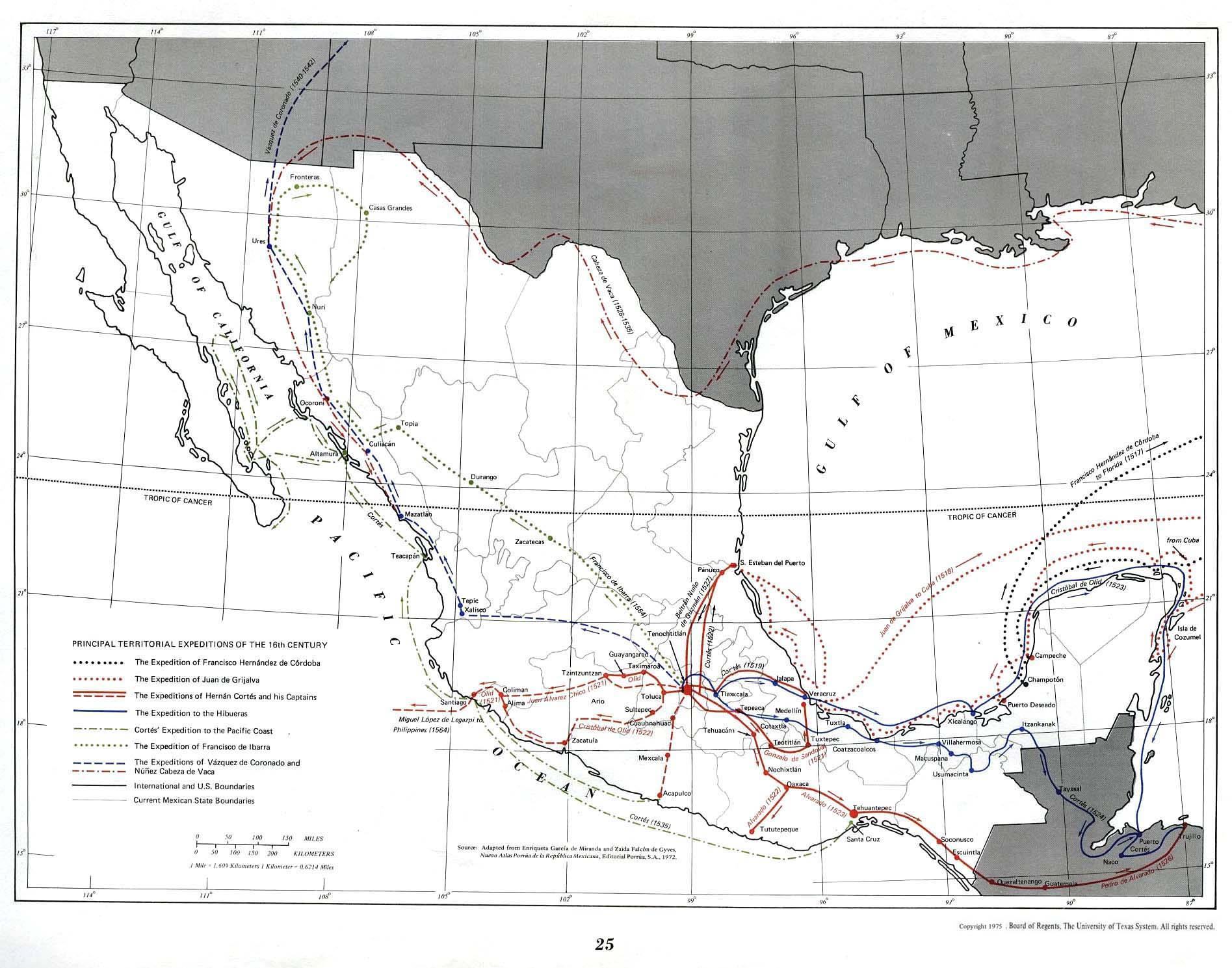 colonial mexico and independence colonisation – Map of Mexico 1821