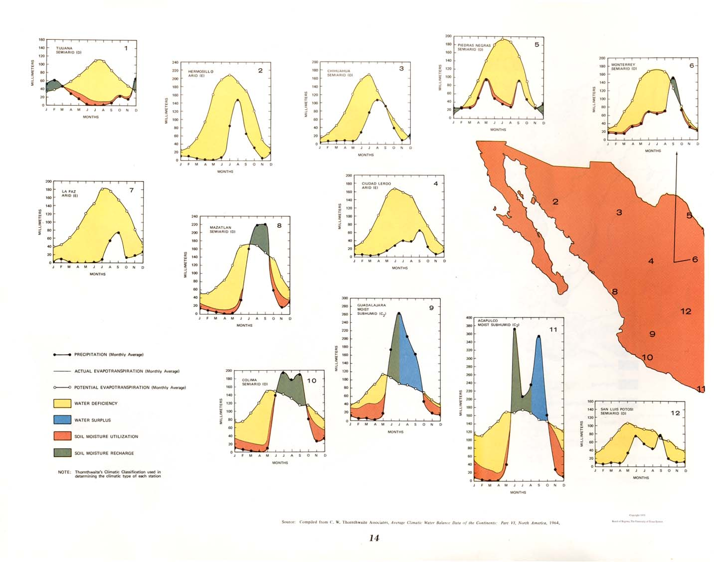 Mexico maps perry castaeda map collection ut library online mexico climatic water balance diagram east ccuart Choice Image
