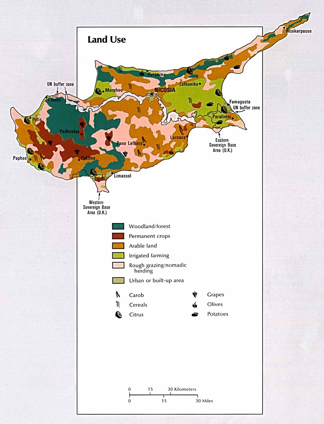 Cyprus maps perry castaeda map collection ut library online cyprus land use gumiabroncs Image collections