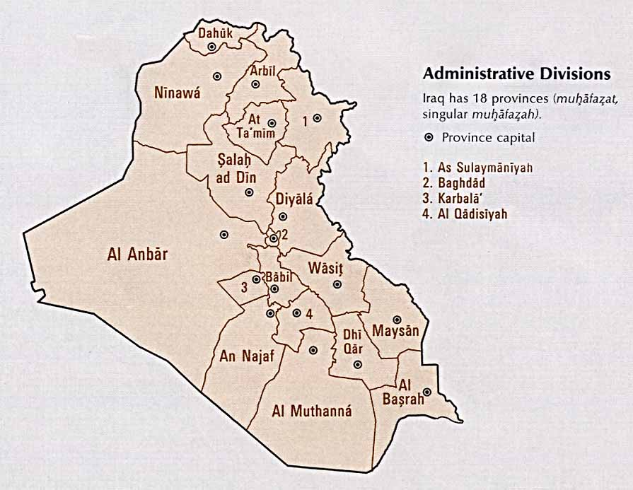 Iraq Provinces Map