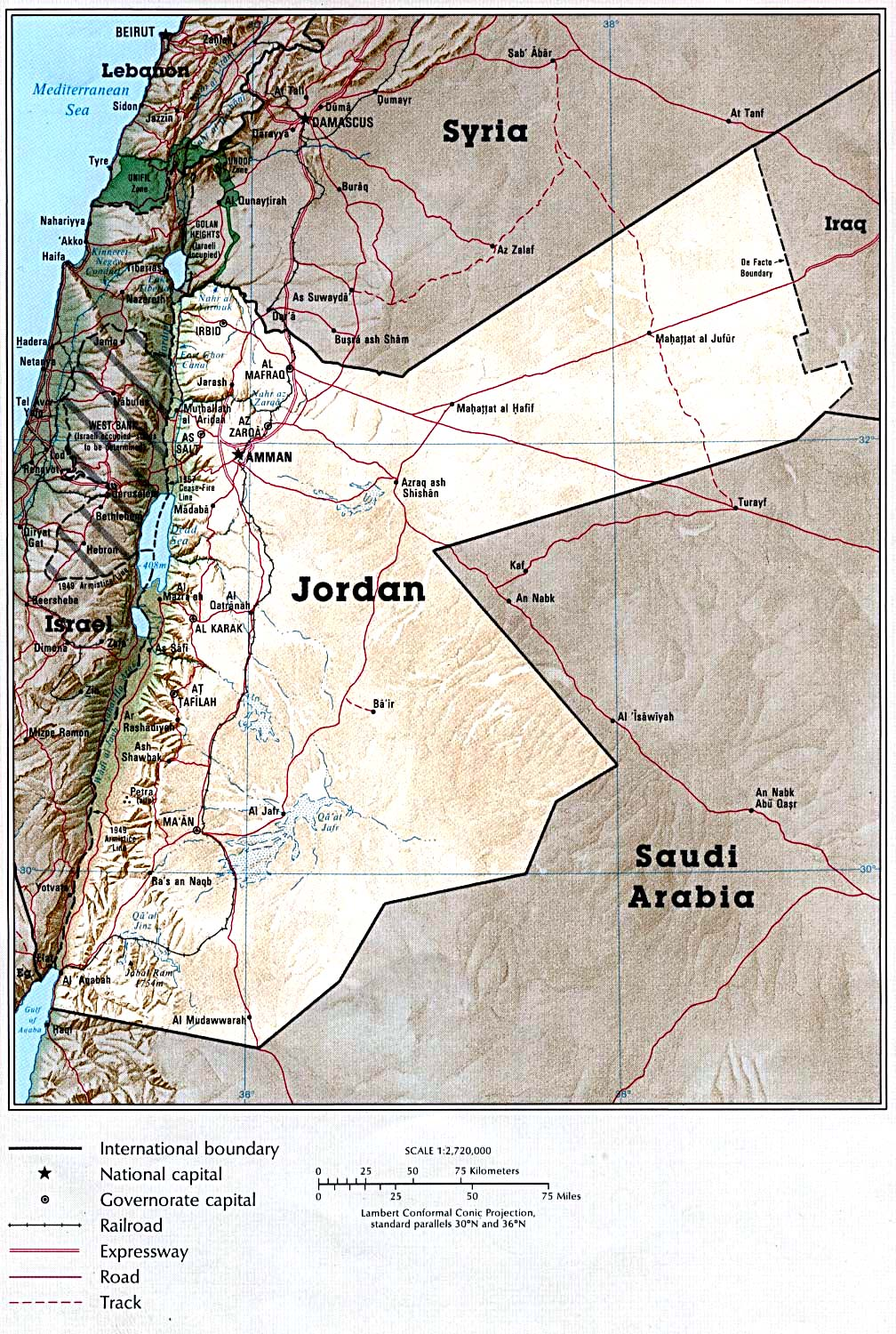 Atlas of the middle east perry castaeda map collection ut jordan country map 421k gumiabroncs Choice Image