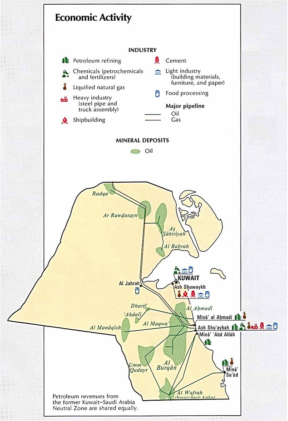 Map of Kuwait http://www.lib.utexas.edu/maps/atlas_middle_east/kuwait_econ.jpg