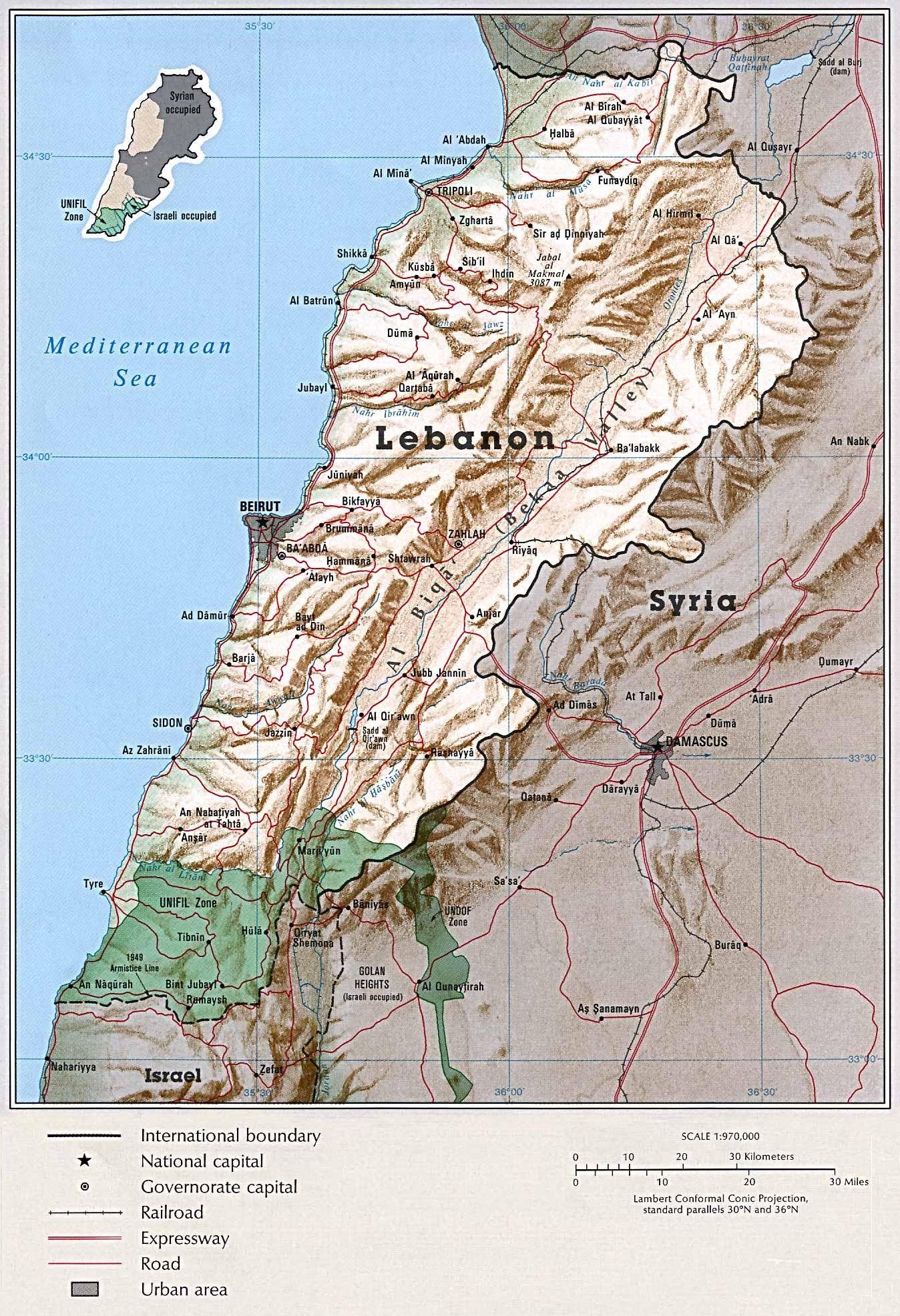 lebanon shaded
