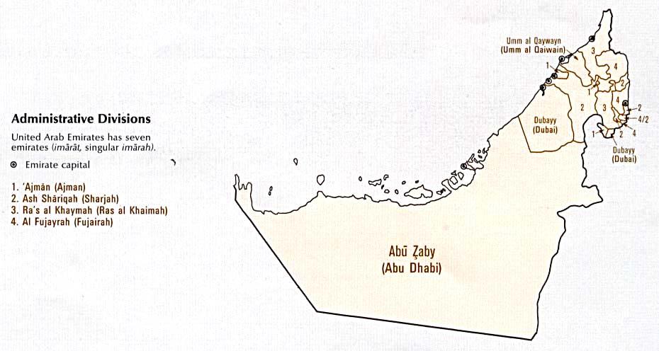 United Arab Emirates Maps PerryCasta eda Map Collection UT – Map of United Arab Emirates