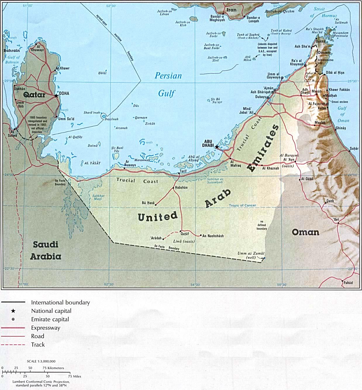 United Arab Emirates Maps PerryCasta eda Map Collection UT – Uae Detailed Map