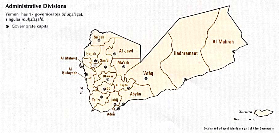Yemen maps perry castaeda map collection ut library online yemen administrative divisions gumiabroncs Choice Image