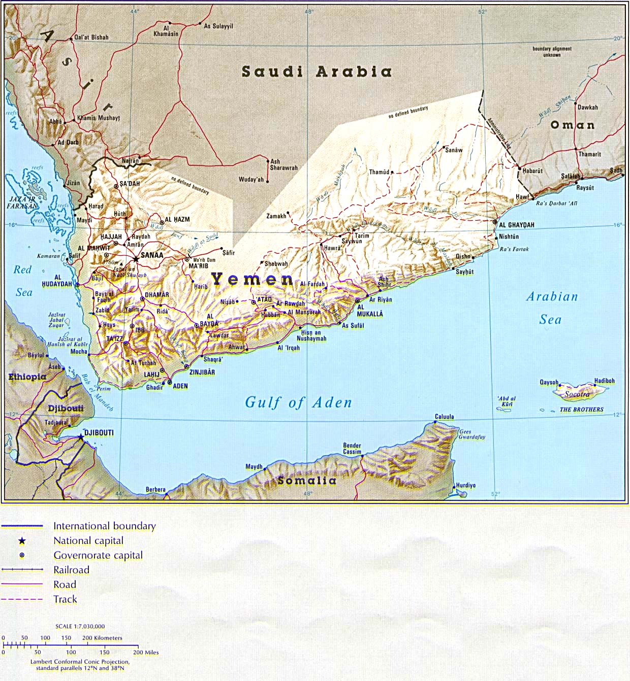 Political Map Of Yemen.Maps Of Yemen