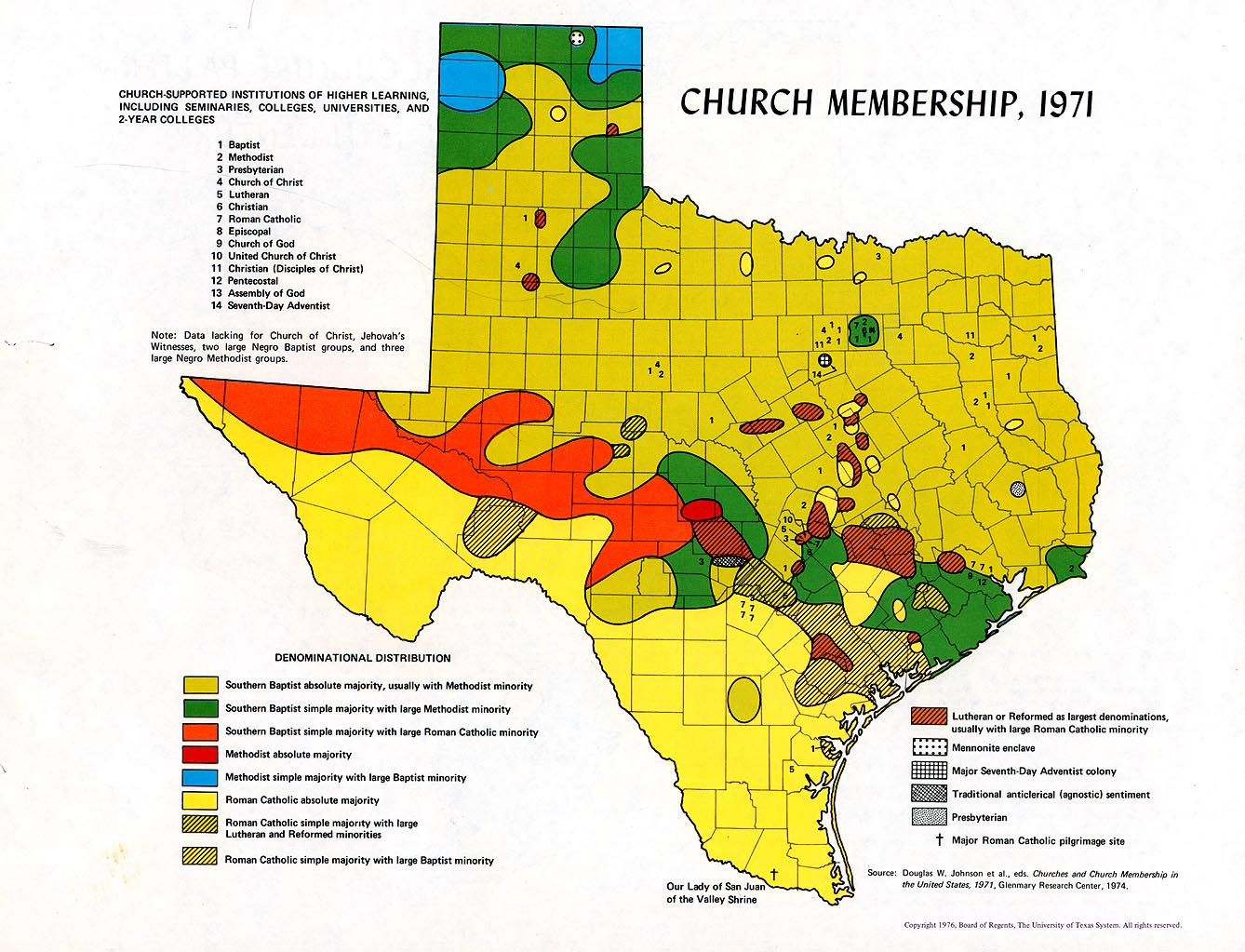 Map Of Texas Lutheran University.Atlas Of Texas Perry Castaneda Map Collection Ut Library Online