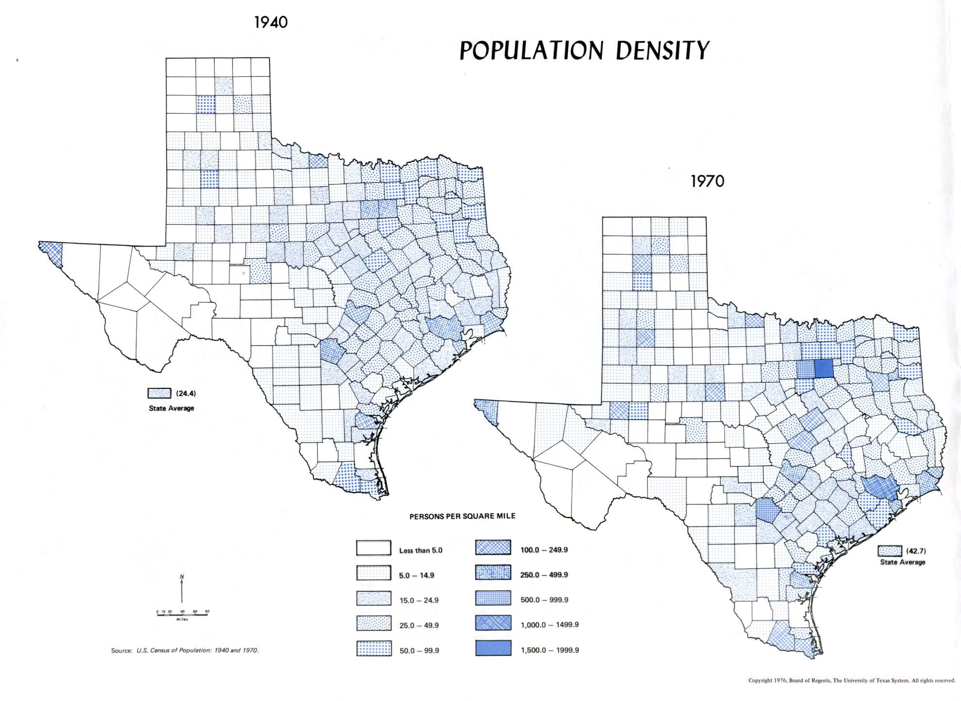 Population Density Map Texas