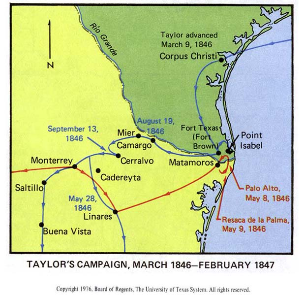 Taylor S Campaign March 1846 February 1847