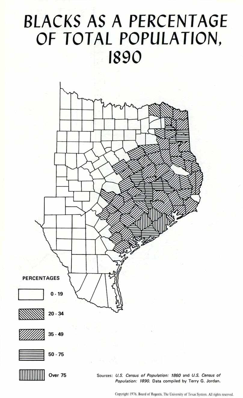 Maps Milam County TXGenWeb Project - Us african american population by county map
