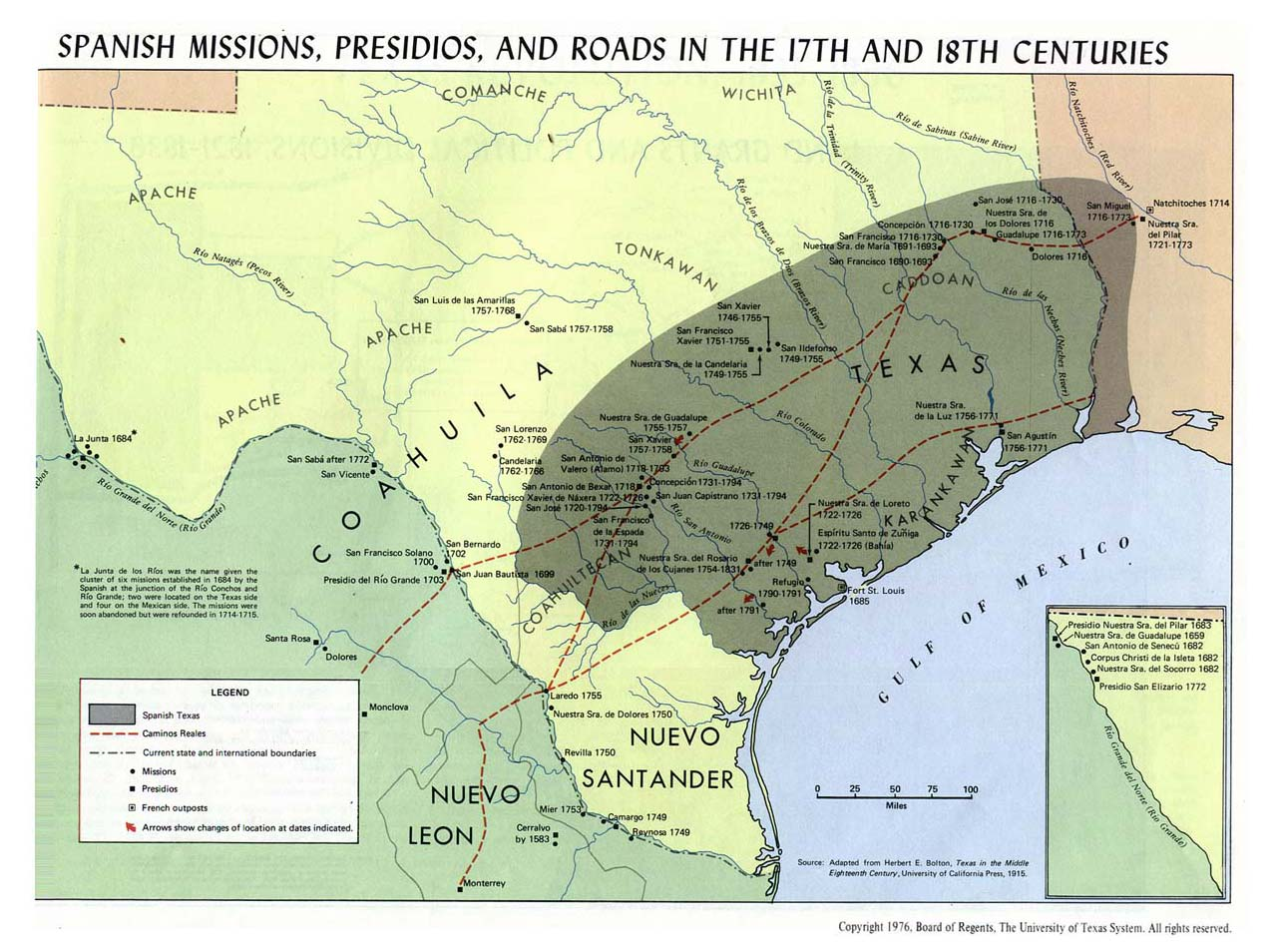 Texas Historical Maps PerryCastañeda Map Collection UT - Spain historical map
