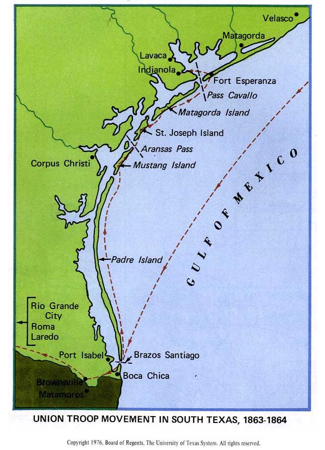 Texas Islands Map