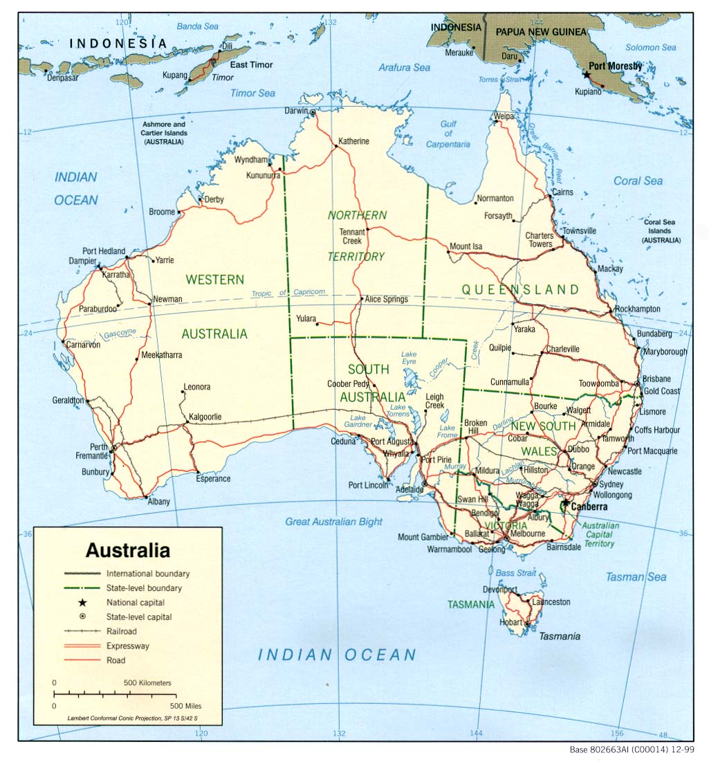 Australia Map Political.Australia And The Pacific Maps Perry Castaneda Map Collection Ut