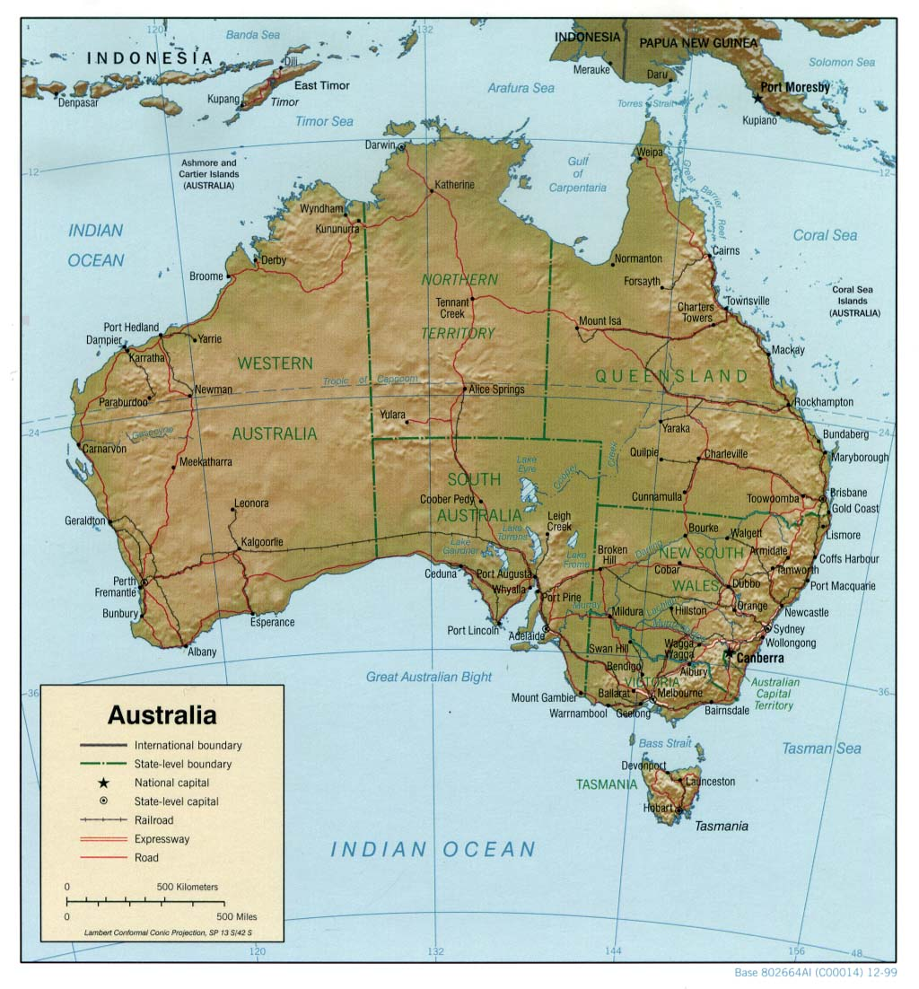 Clear Map Of Australia.Maps Page On Australia