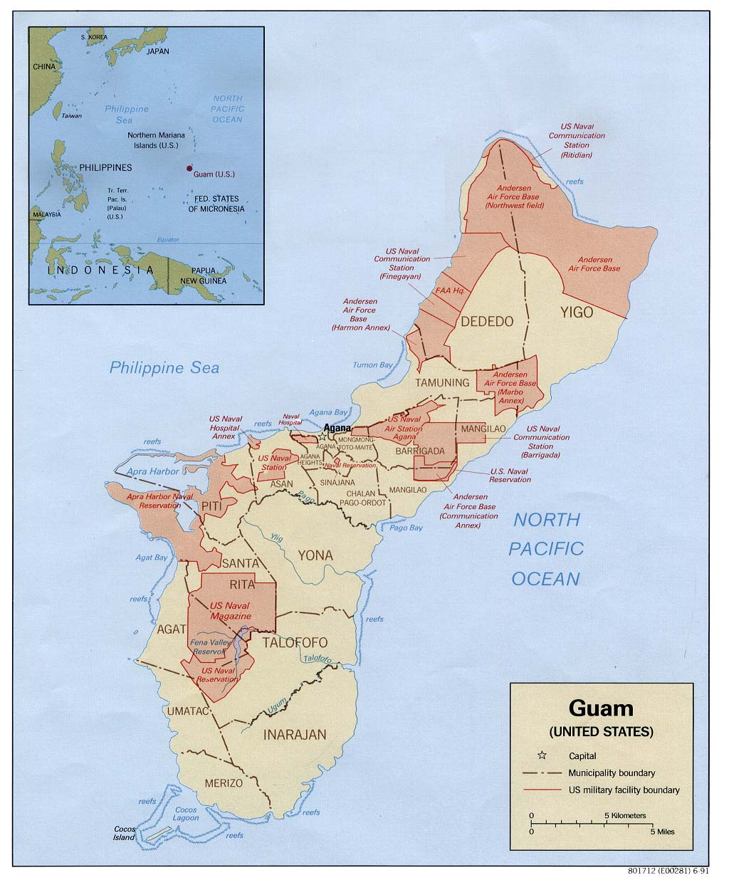 Guam Maps PerryCastañeda Map Collection UT Library Online - Us military installation road map