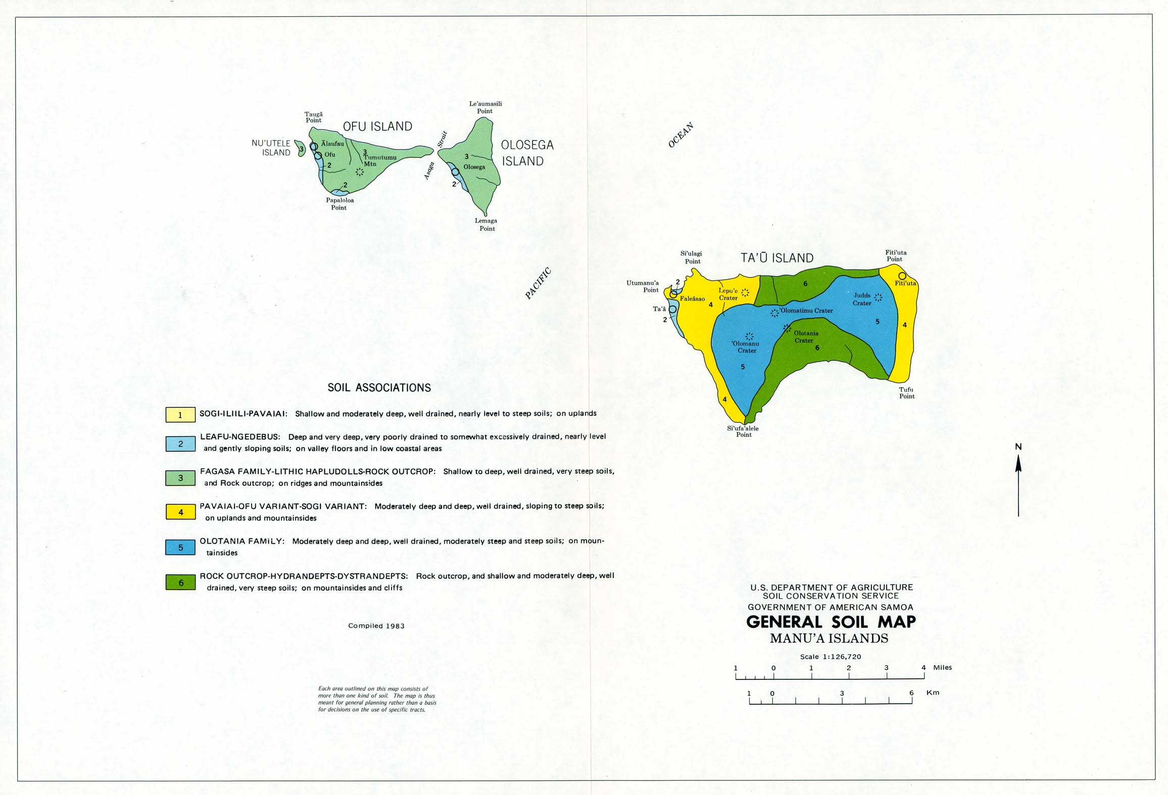 American Samoa Maps Perry Castaneda Map Collection Ut