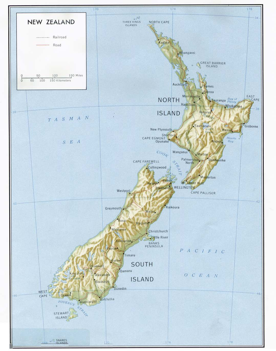New Zealand Maps Perry Castaneda Map Collection Ut Library Online