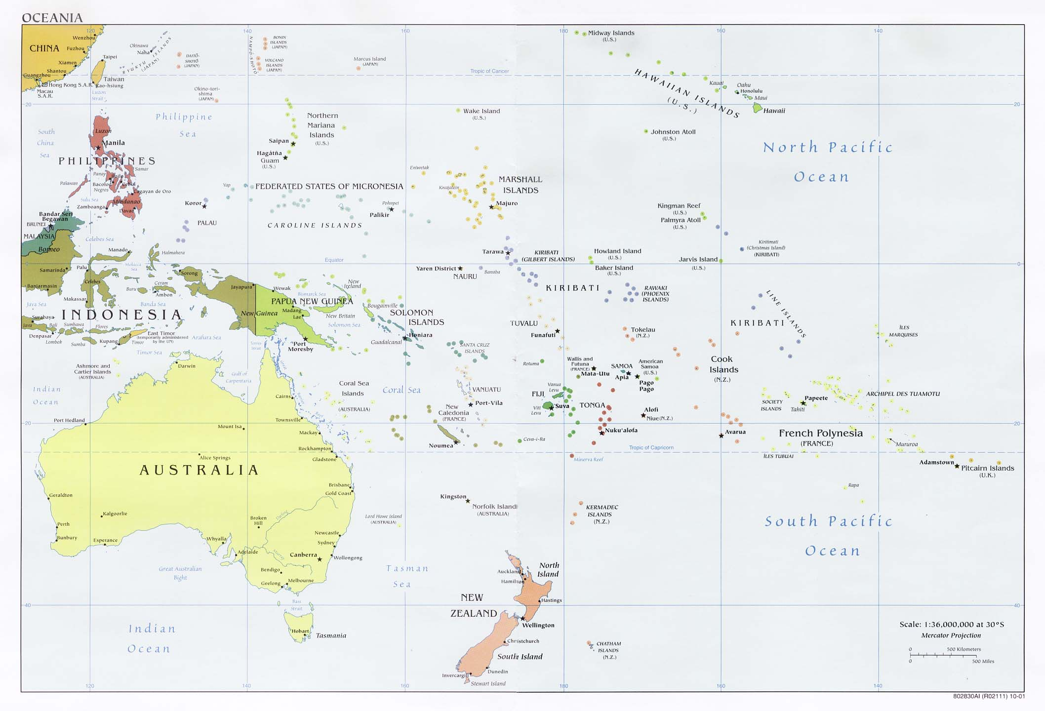 Blank Map Of Oceania Oceania