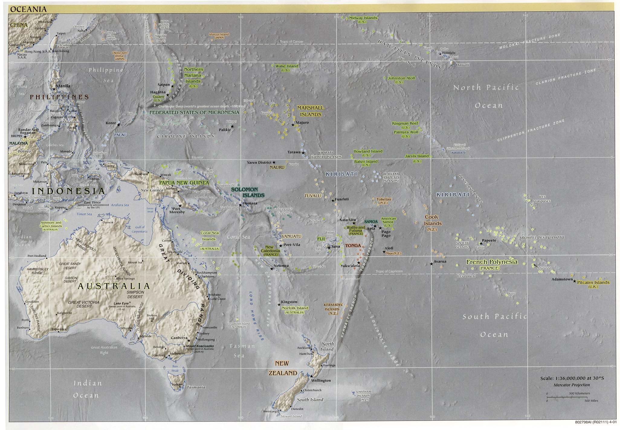 Australia And The Pacific Maps PerryCastañeda Map Collection - West pacific islands map 1998