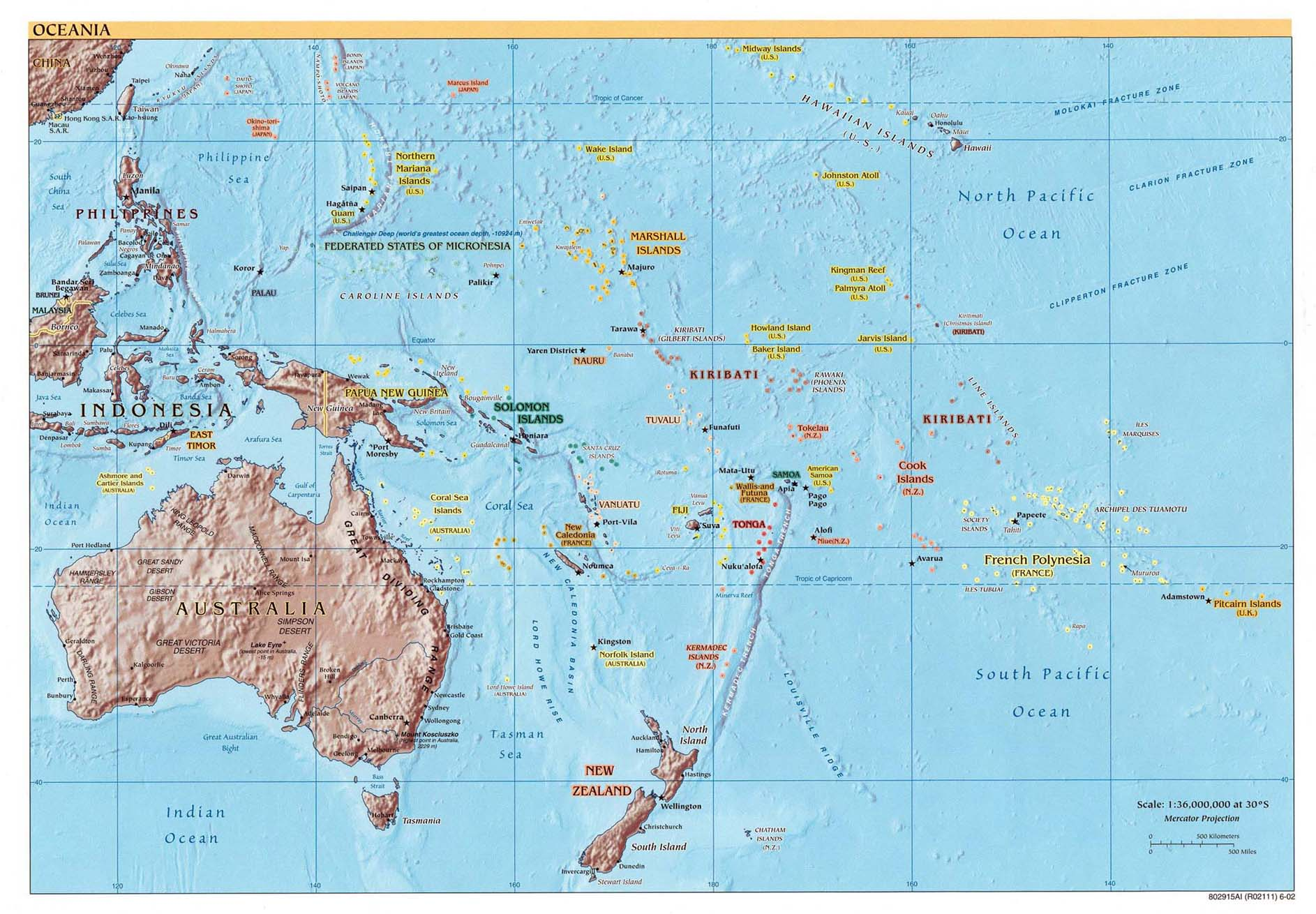 Australia And The Pacific Maps Perry Castaneda Map Collection Ut - Pacific-ocean-on-us-map