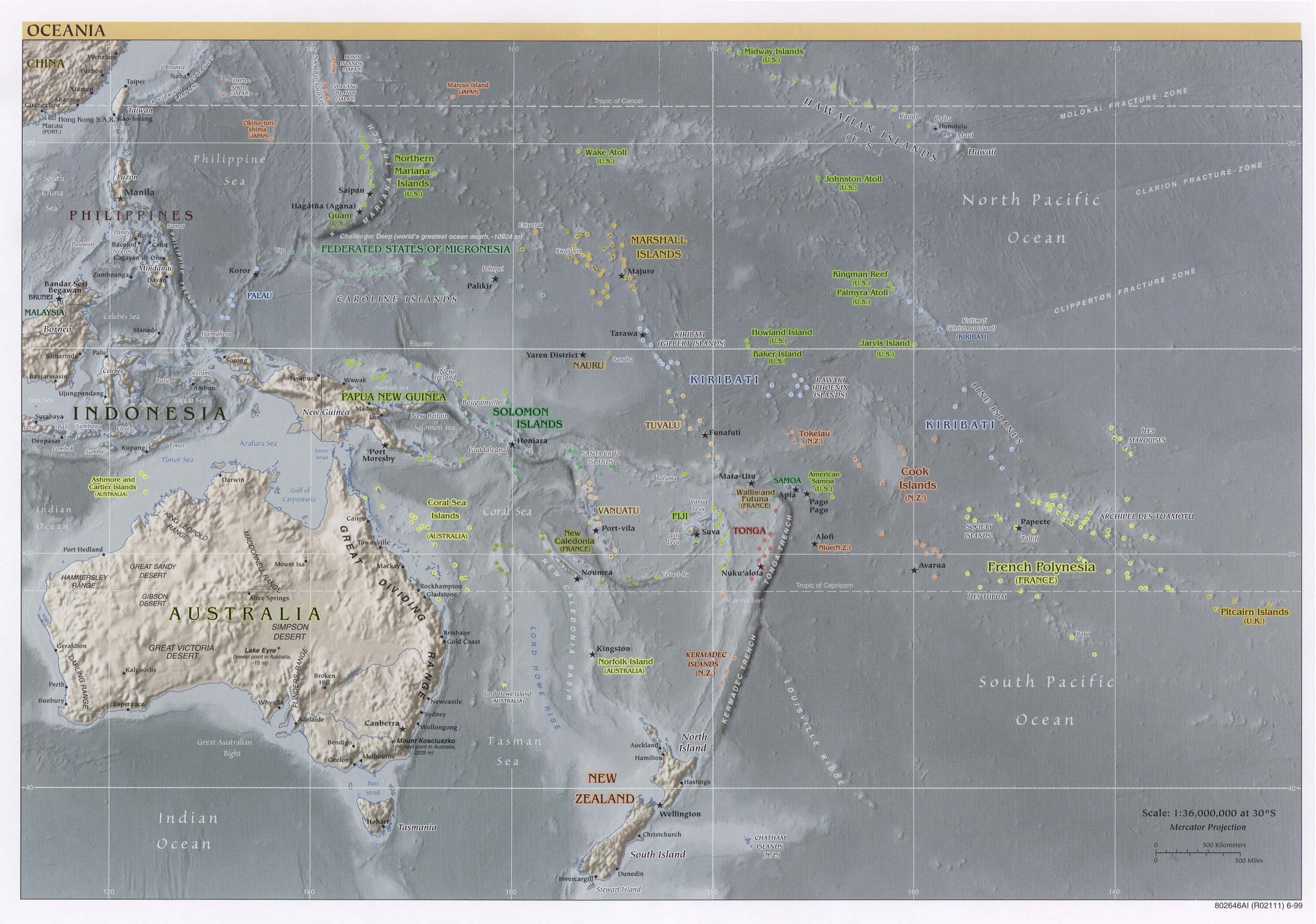 Australia And The Pacific Maps PerryCastañeda Map Collection - Political map of oceania