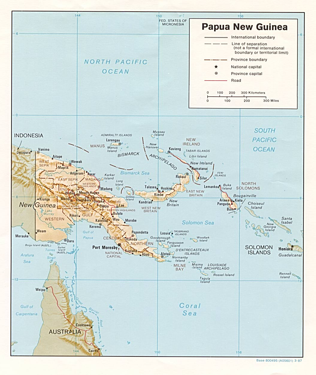Papua New Guinea Maps PerryCastaeda Map Collection UT Library