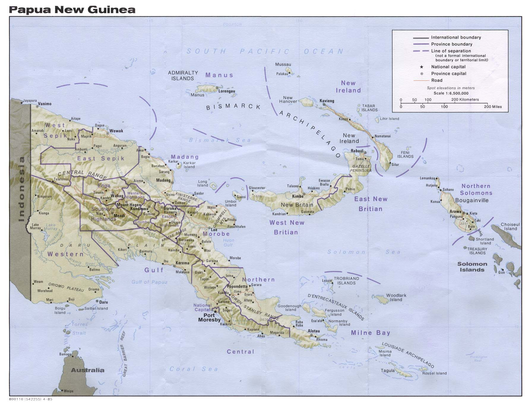 Download this Papua New Guinea Maps picture