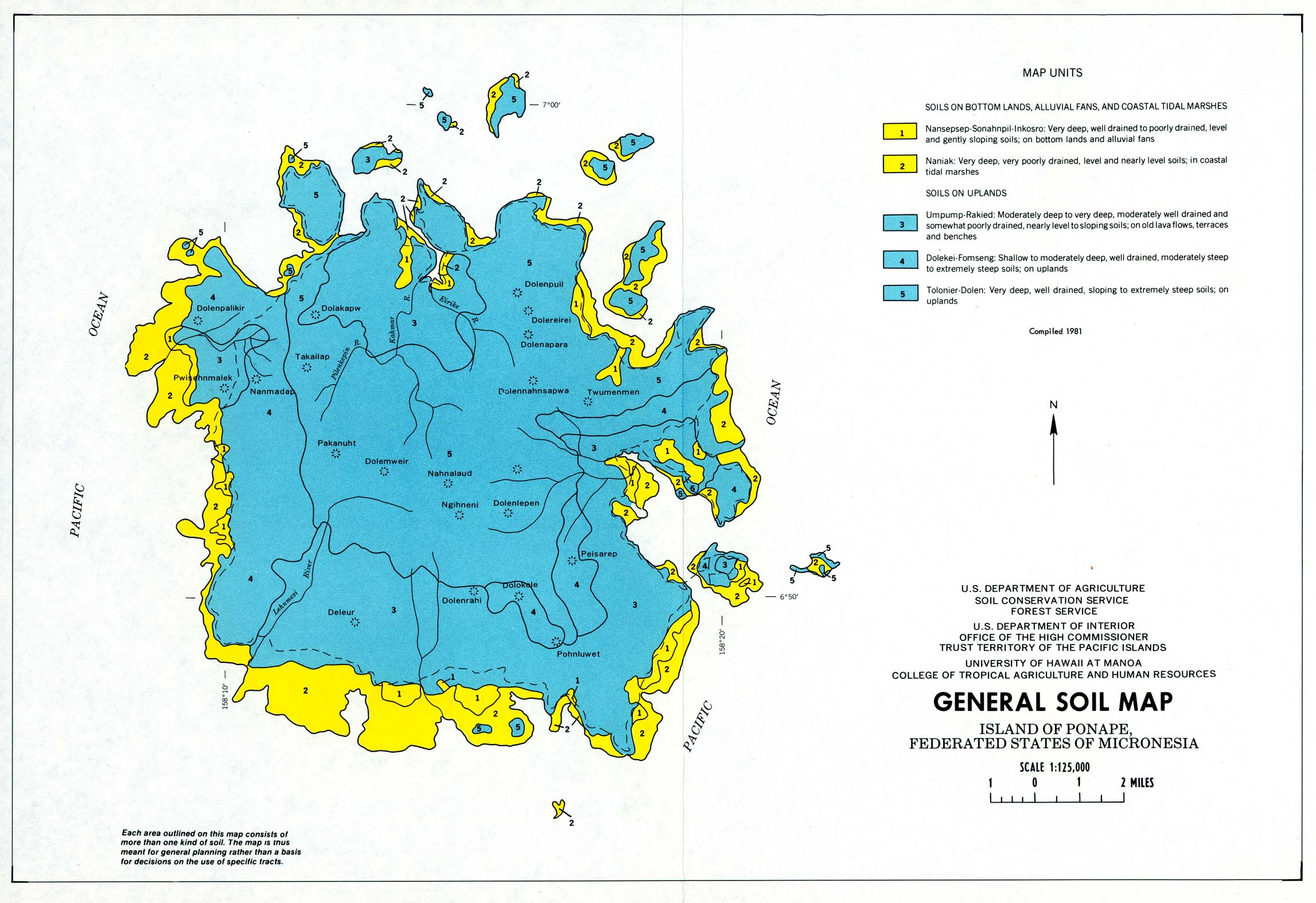 Micronesia maps perry castaeda map collection ut library online ponape island general soil map united states publicscrutiny Images