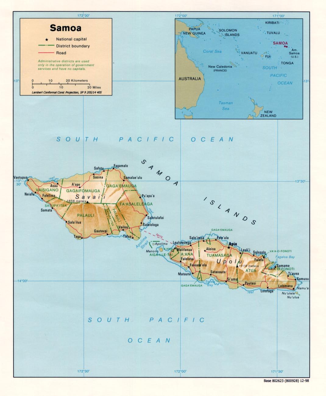Samoa Maps PerryCastañeda Map Collection UT Library Online - Samoa map