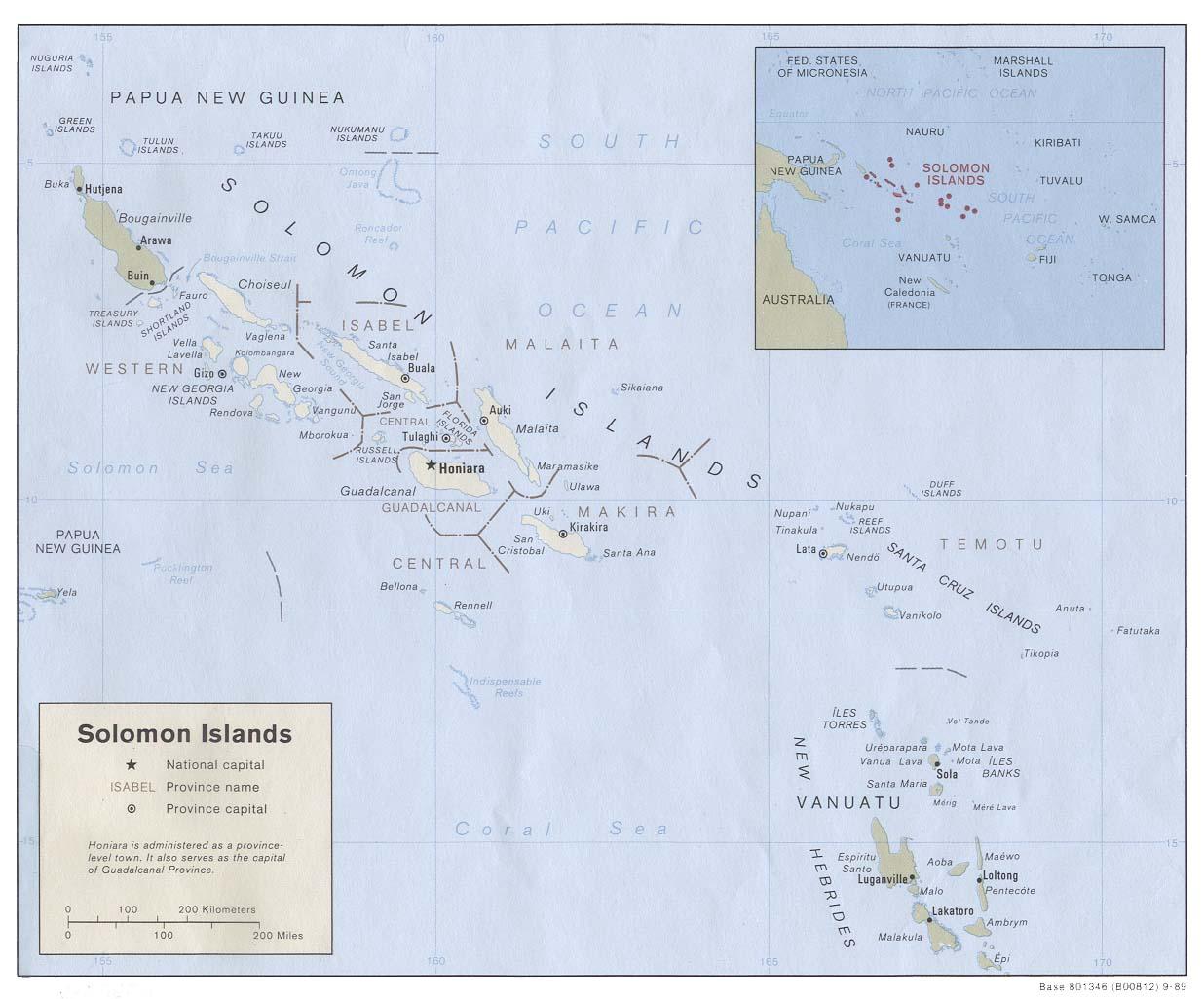 Solomon Islands Maps