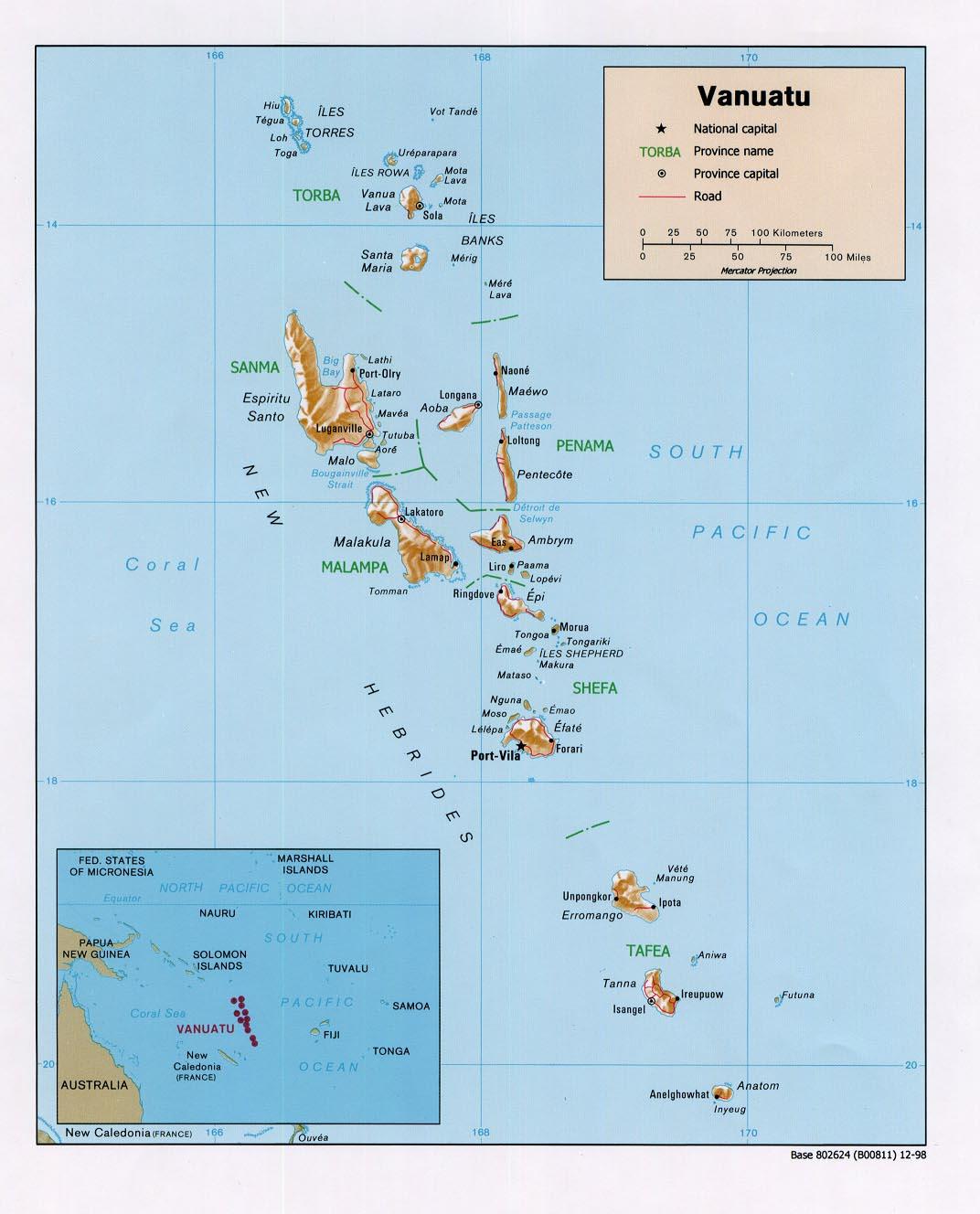 Maps Of Vanuatu