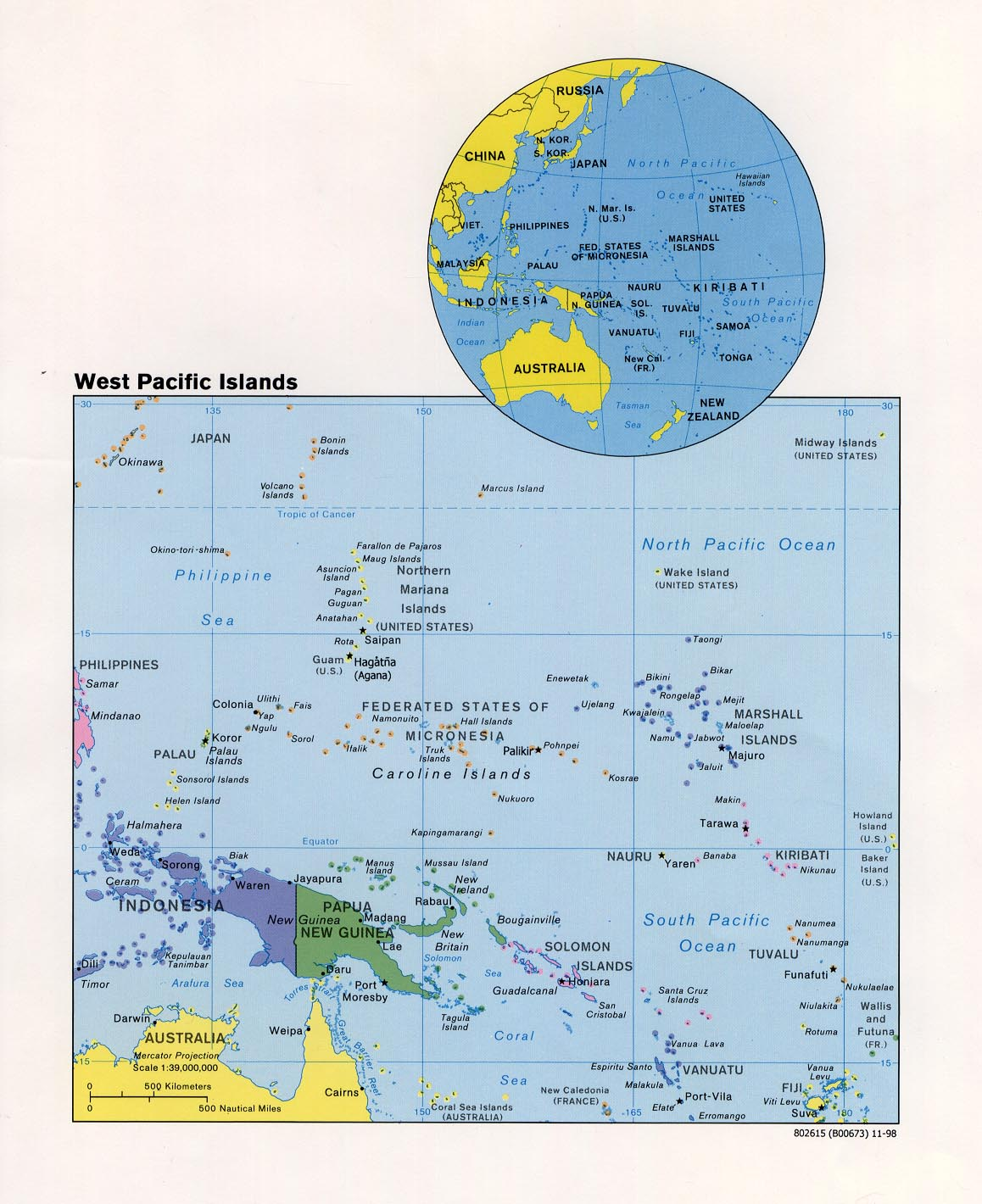 maps of australia and the pacific