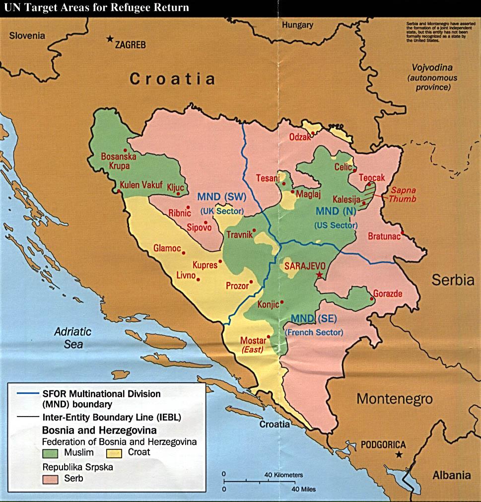 Bosnia And Herzegovina Refugee Return U N Target Areas