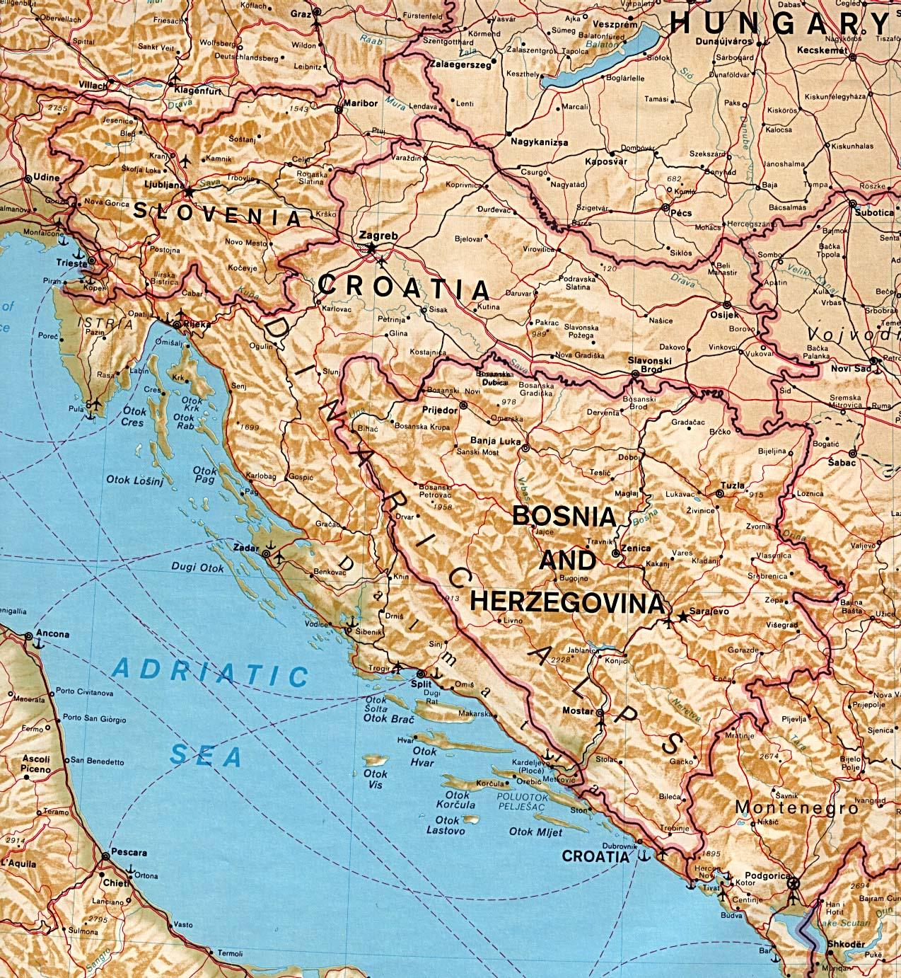 Maps of bosnia and herzegovina perry castaeda library map collection balkans west gumiabroncs Image collections