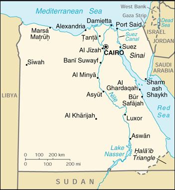 Kleine Egypte Kaart