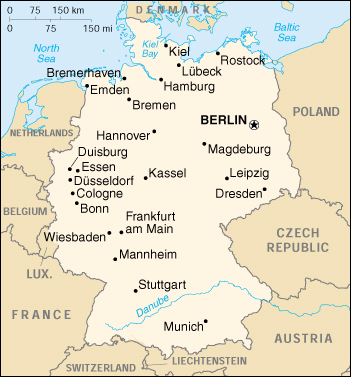 Map Of Germany 2000.1up Travel Maps Of Germany Germany Small Map 2000 130k