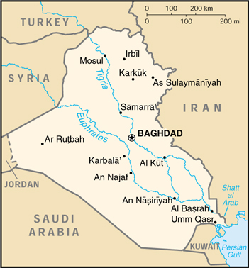 Map Of Iraq Iraq (Small Map) 2000 (109K)