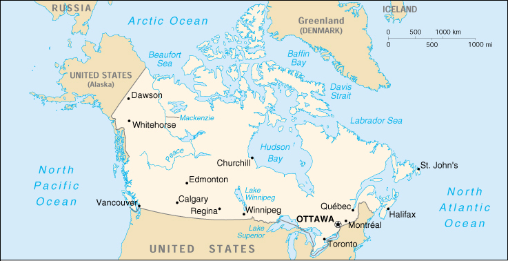 Small Map Of Canada.1up Travel Maps Of Canada Canada Small Map U S Central
