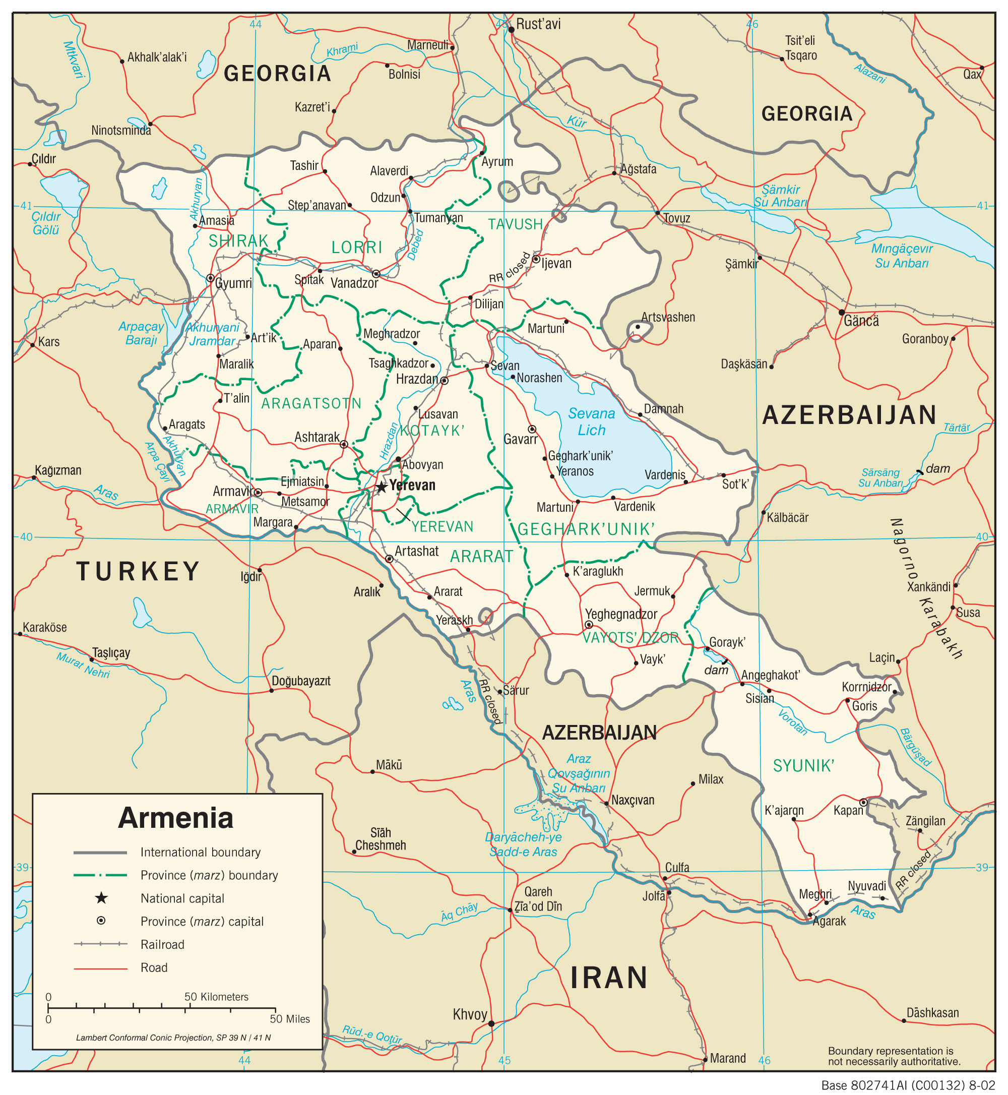 Armenia On A Map Armenia Maps   Perry Castañeda Map Collection   UT Library Online