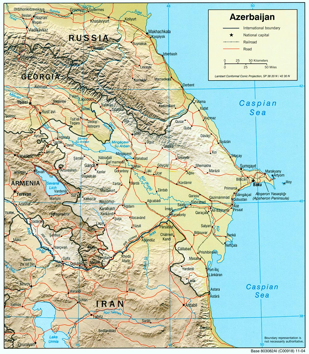 Azerbaijan Maps PerryCastañeda Map Collection UT Library Online - Azerbaijan maps with countries