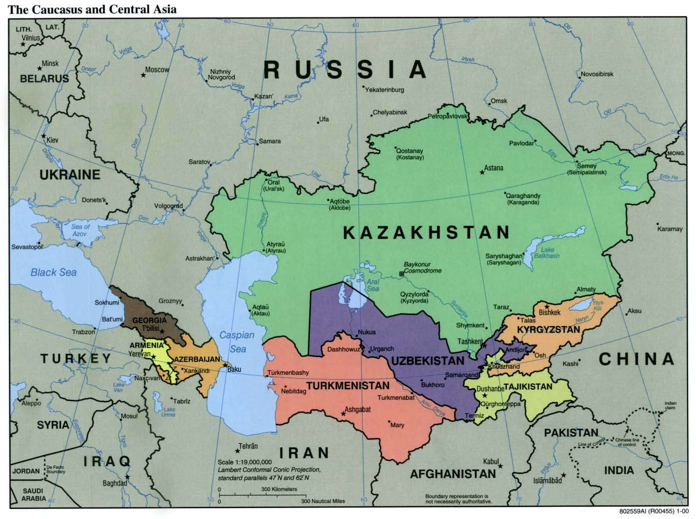 Kyrgyzstan maps perry castaeda map collection ut library online caucasus and central asia gumiabroncs Choice Image