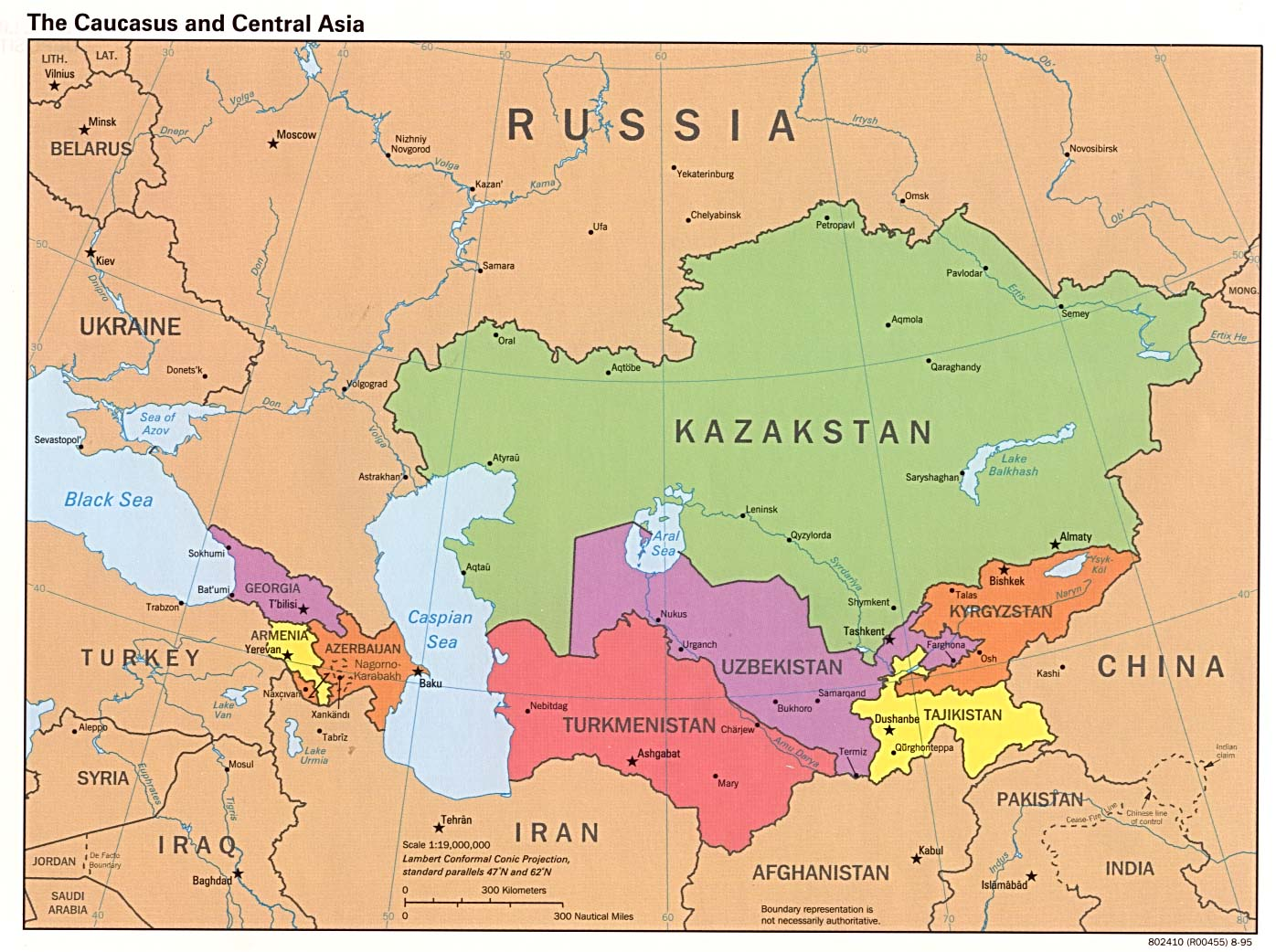 Central And Northern Asia Map Quiz Caucasus and central asia