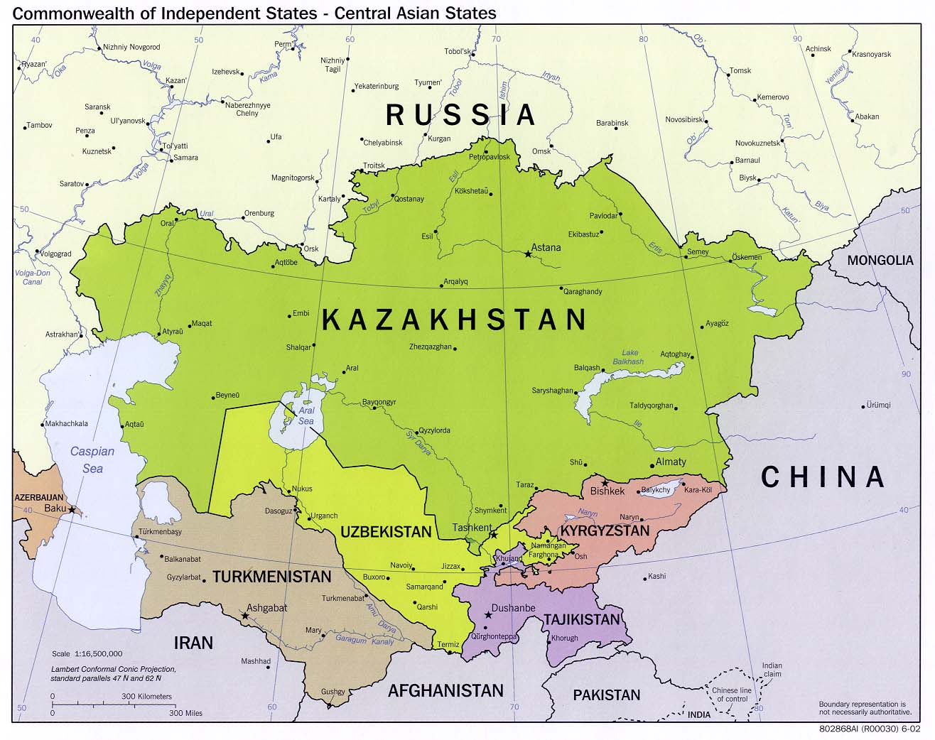 Russia And The Former Soviet Republics Maps PerryCastañeda Map - Kazakhstan map hd