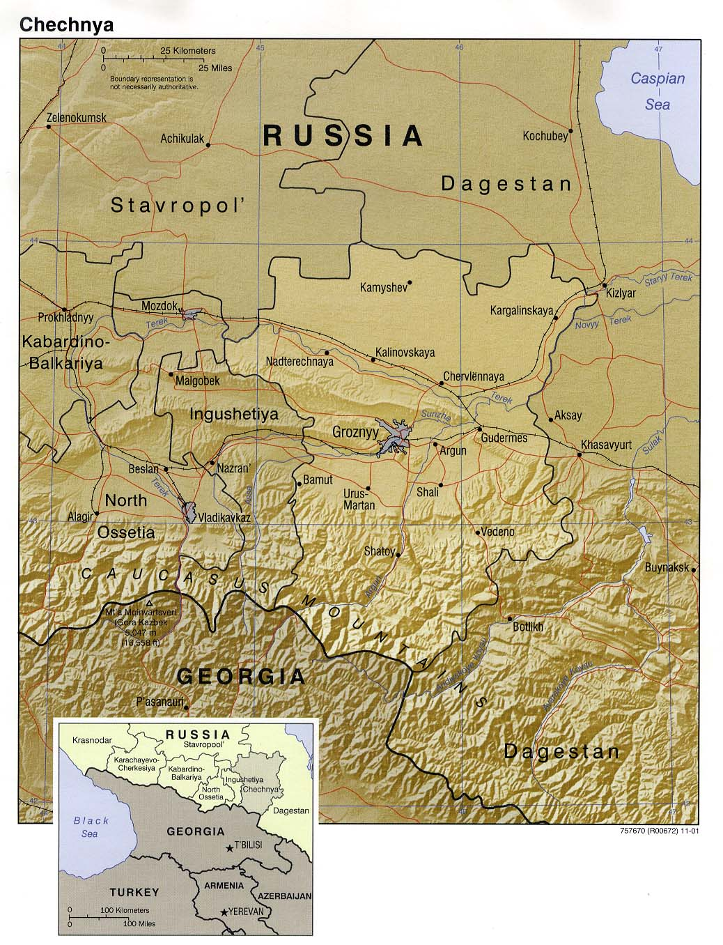Chechnya (Chechen Republic) Maps - Perry-Castañeda Map ... on turkistan on world map, altai on world map, sinkiang on world map, sovetsk on world map, yugoslavia on world map, chernobyl on world map, corsica on world map, kosovo on world map, iran on world map, namibia on world map, thailand on world map, the persian gulf on world map, dome of the rock on world map, abkhazia on world map, yemen on world map, south korea on world map, myanmar burma on world map, map of middle east on world map, finland on world map, bosnia-herzegovina on world map,