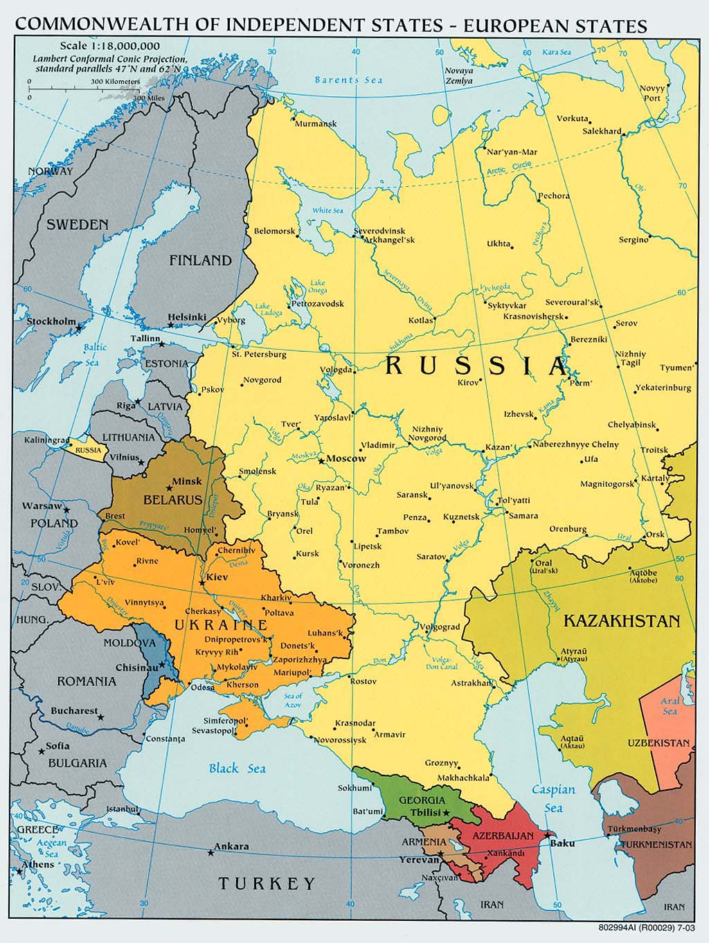 Russia and the Former Soviet Republics Maps  PerryCastaeda Map