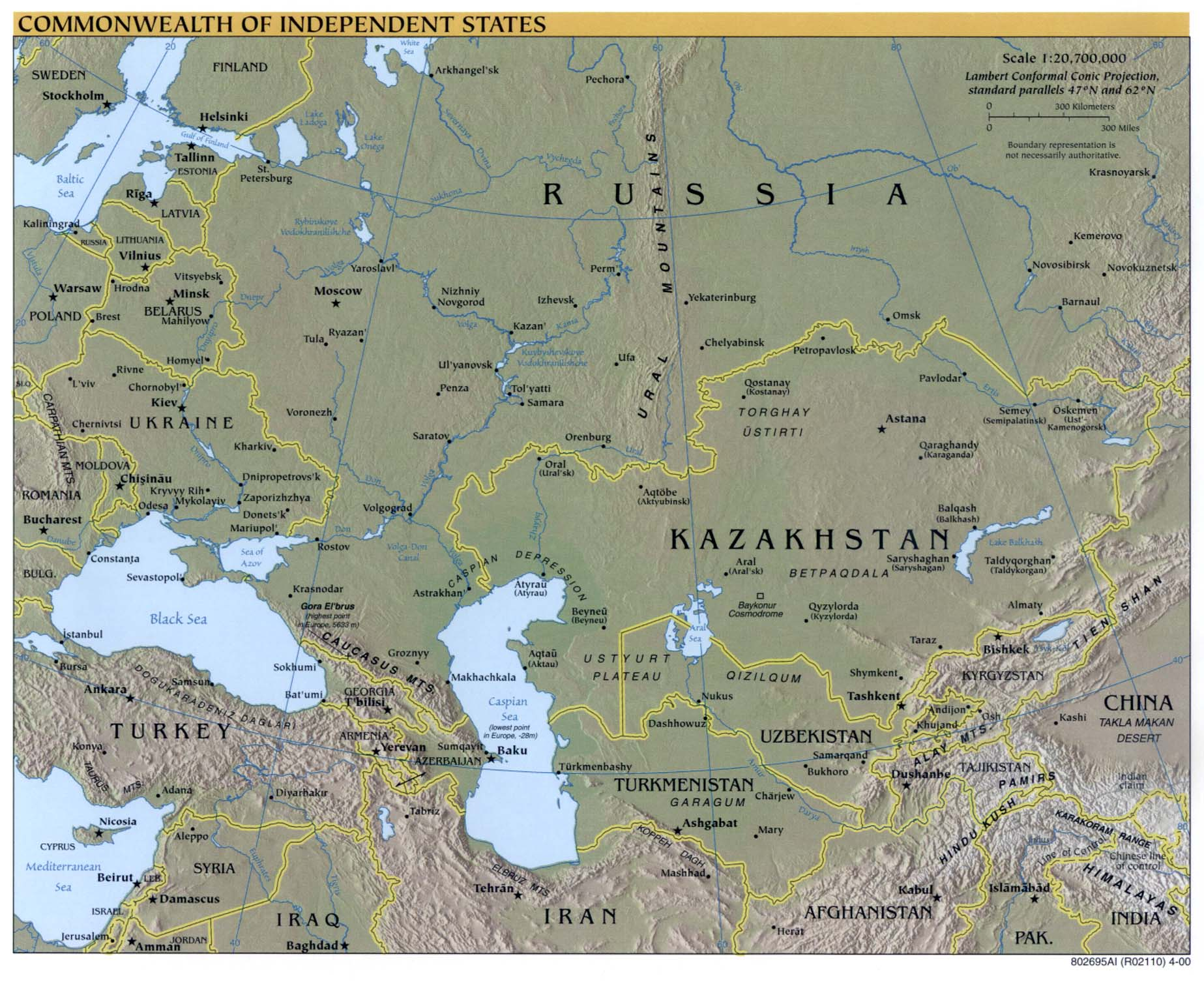 Russia And The Former Soviet Republics Maps PerryCastañeda Map - Russia map and surrounding countries