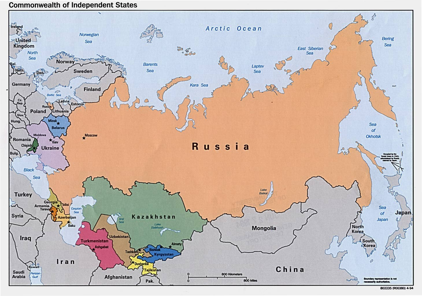 Russia And The Former Soviet Republics Maps PerryCastañeda Map - Russian map