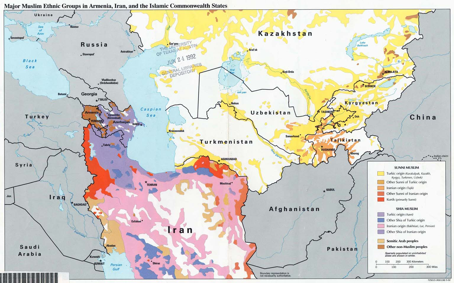 Major Muslim Ethnic Groups In Armenia Iran And The Islamic Commonwealth States