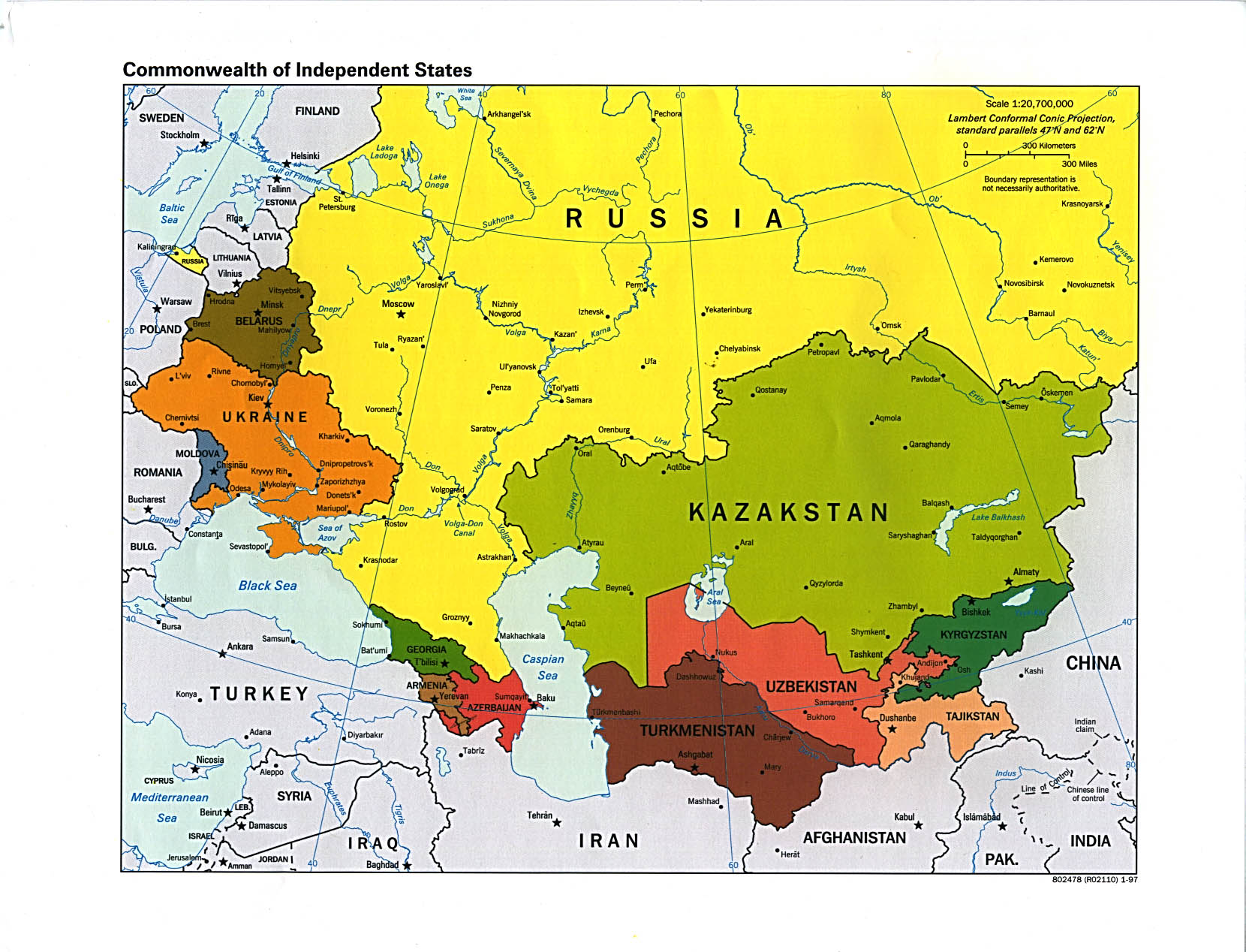 Russian Map Of Russia.Russia And The Former Soviet Republics Maps Perry Castaneda Map